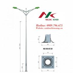 Cột đèn cao áp bát giác 12m cần đôi kiểu B03