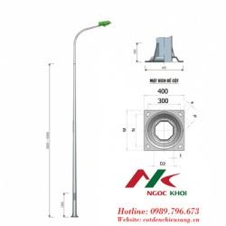 Cột thép bát giác 7m cần đơn B06 - Đèn cao áp NK16