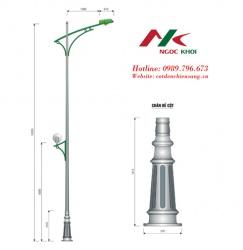 Cột đèn cao áp đế gang DC01 NK 1