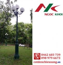 Cột đèn sân vườn DC05B lắp đèn cầu D400