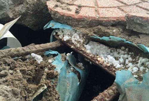 Sở GTVT thông tin vụ bê tông cốt xốp trên cầu vượt