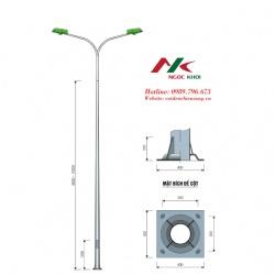 Cột đèn cao áp 12m cần đôi B06