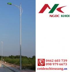 Cột thép bát giác 12m cần kiểu B01 - đèn cao áp NK16