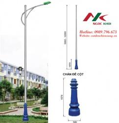 Cột đèn cao áp cần đơn B07