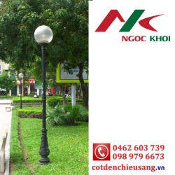 Cột trang trí Bambo lắp đèn cầu D400