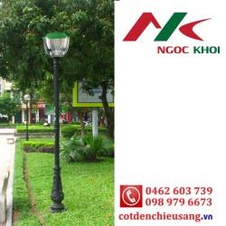 Cột sân vườn Bambo lắp đèn trang trí Tulip